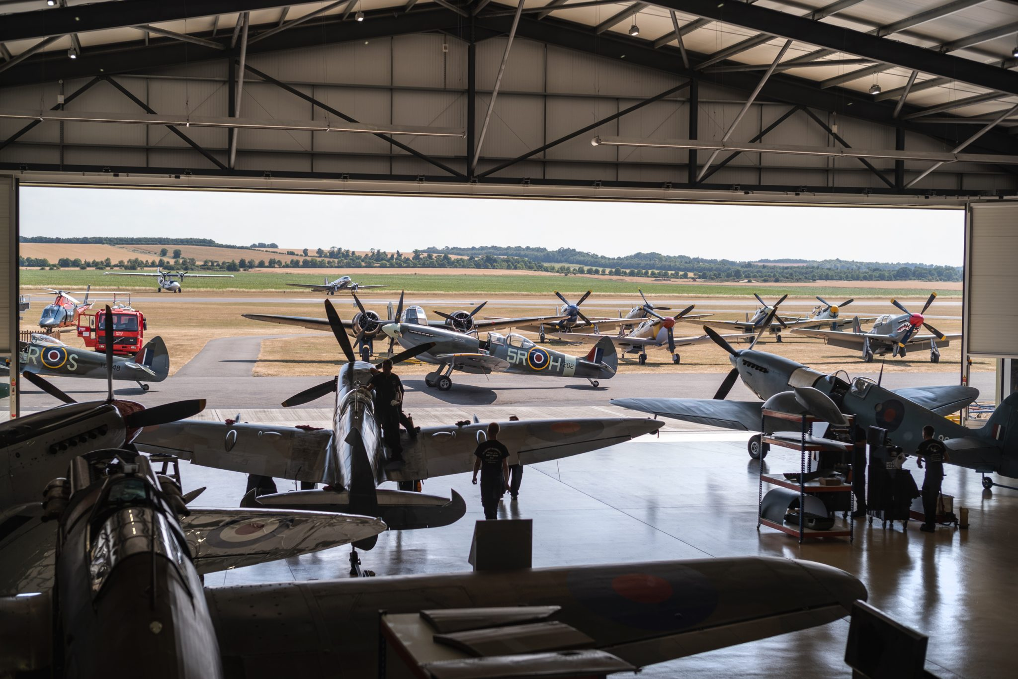 Aerial-collective-duxford-airplanes