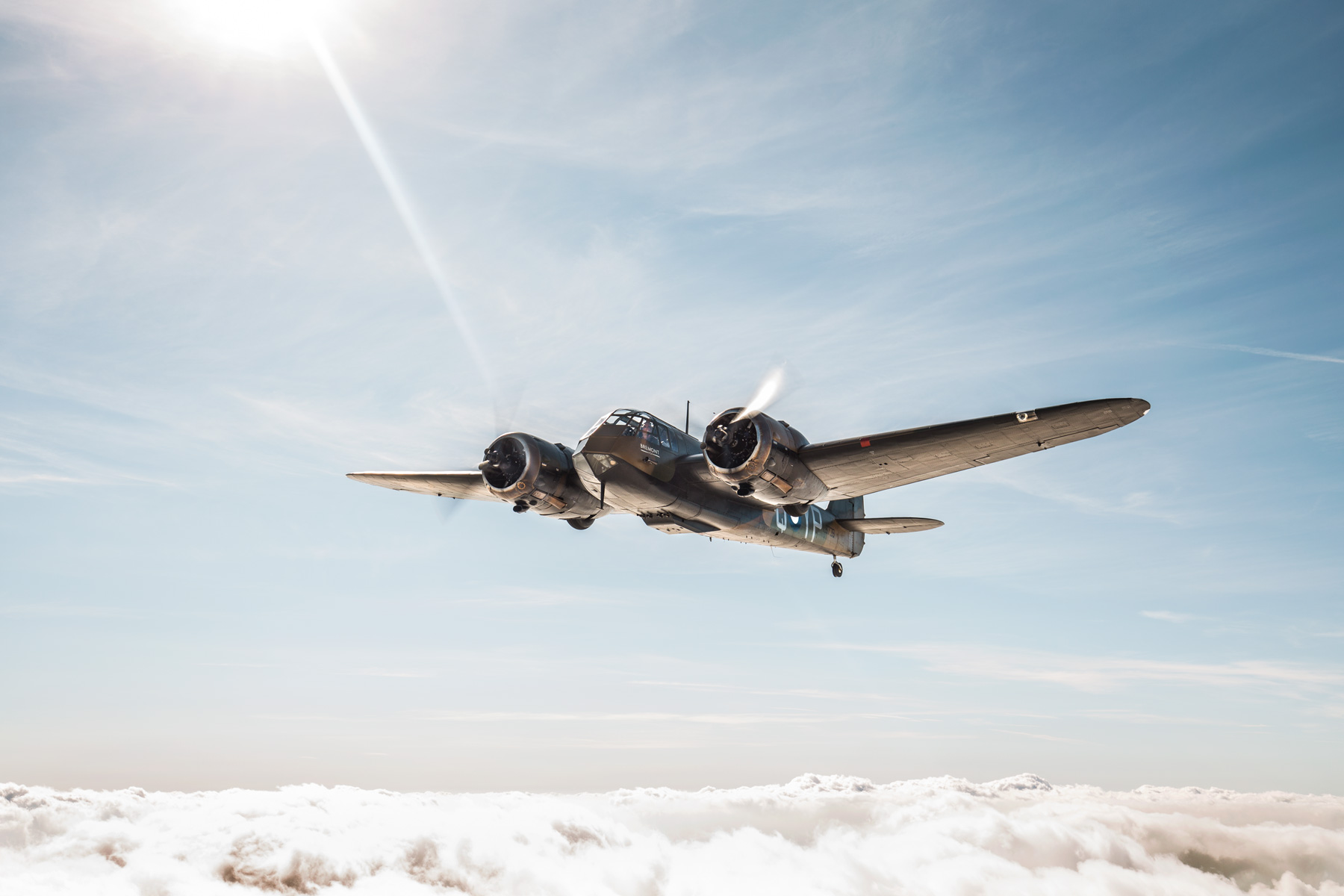 The-Blenheim-In-Flight